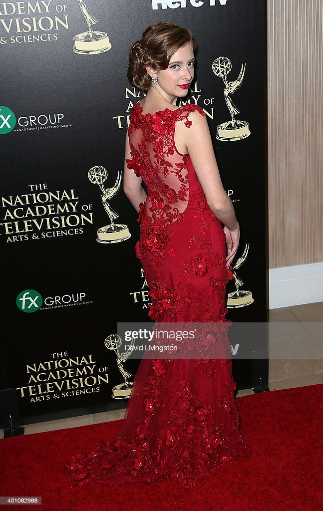 Actress <a gi-track='captionPersonalityLinkClicked' href=/galleries/search?phrase=Ashlyn+Pearce&family=editorial&specificpeople=11286778 ng-click='$event.stopPropagation()'>Ashlyn Pearce</a> attends the 41st Annual Daytime Emmy Awards at The Beverly Hilton Hotel on June 22, 2014 in Beverly Hills, California.