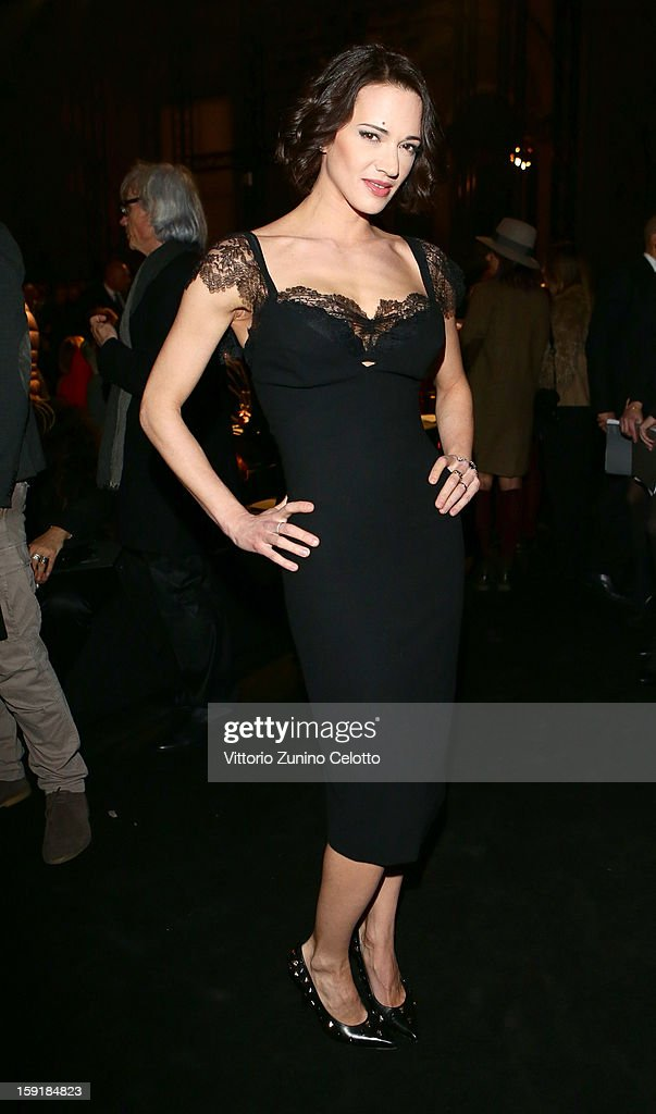 Actress Asia Argento attends Ermanno Scervino fashion show as part of Pitti Immagine Uomo 83 at Palazzo Vecchio on January 9, 2013 in Florence, Italy.