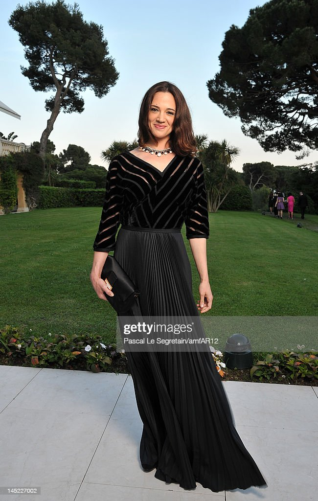 Actress Asia Argento attends the 2012 amfAR's Cinema Against AIDS during the 65th Annual Cannes Film Festival at Hotel Du Cap on May 24, 2012 in Cap D'Antibes, France.