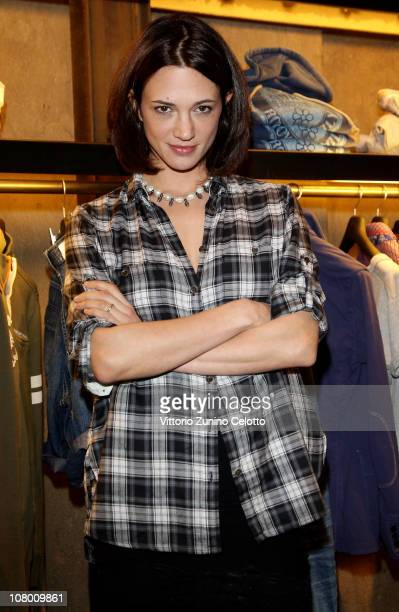 Actress Asia Argento attends the Guru Flagship Store Opening held during the Pitti Immagine Uomo 79 on January 12 2011 in Florence Italy