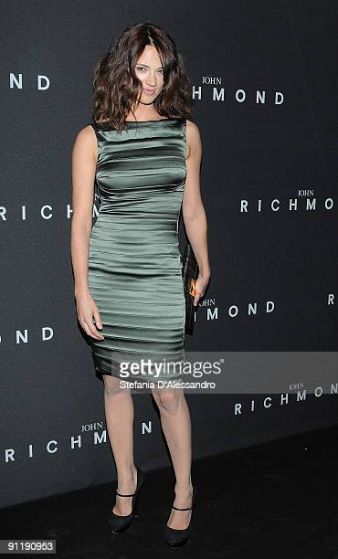 Actress Asia Argento attends the John Richmond show as part of Milan Womenswear Fashion Week Spring/Summer 2010 on September 27 2009 in Milan Italy