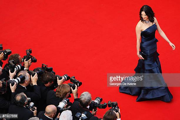 Actress Asia Argento attends the Vengeance Premiere at the Palais Des Festivals during the 62nd International Cannes Film Festival on May 17 2009 in...