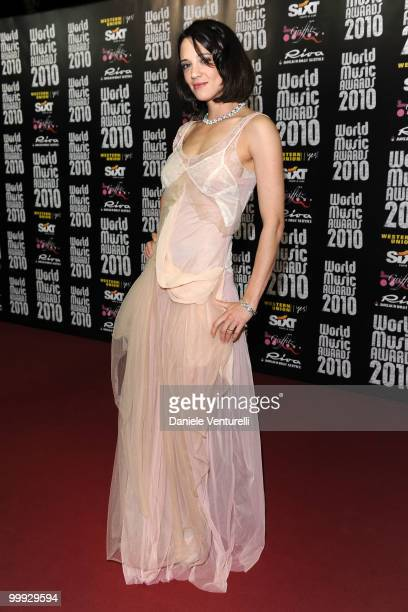 Actress Asia Argento attends the World Music Awards 2010 at the Sporting Club on May 18 2010 in Monte Carlo Monaco