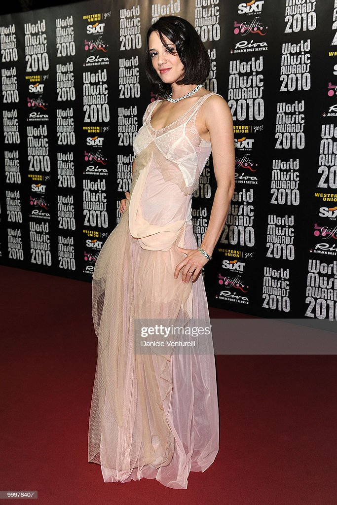 Actress Asia Argento attends the World Music Awards 2010 at the Sporting Club on May 18, 2010 in Monte Carlo, Monaco.