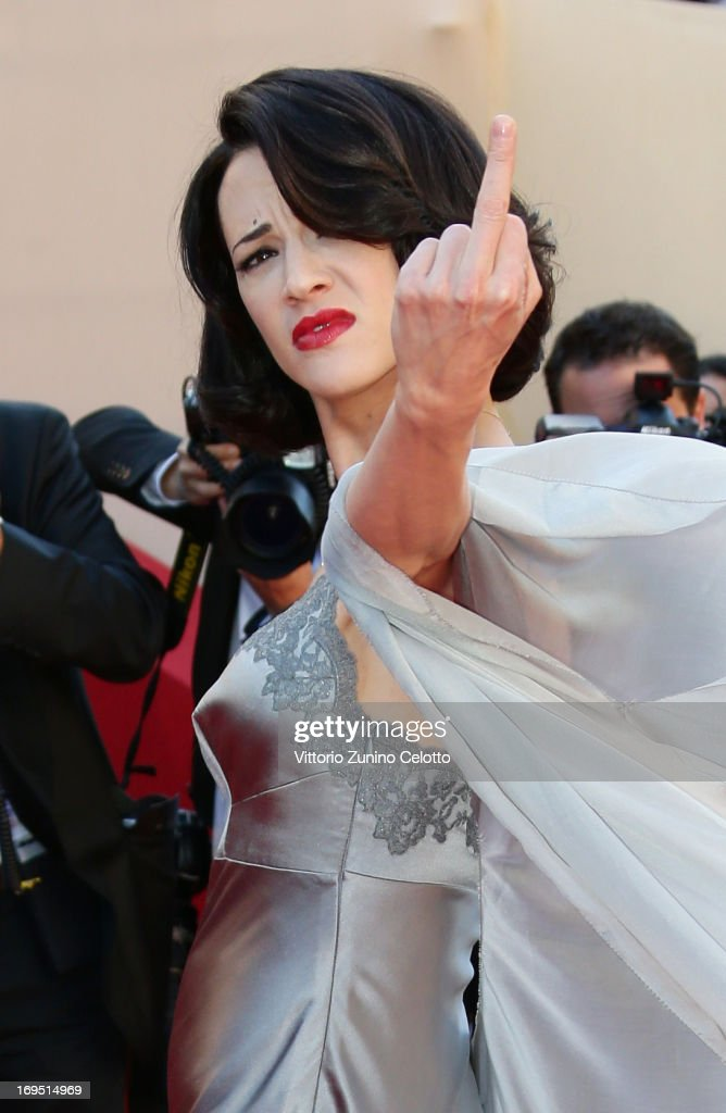 Actress <a gi-track='captionPersonalityLinkClicked' href=/galleries/search?phrase=Asia+Argento&family=editorial&specificpeople=856947 ng-click='$event.stopPropagation()'>Asia Argento</a> attends the 'Zulu' Premiere and Closing Ceremony during the 66th Annual Cannes Film Festival at the Palais des Festivals on May 26, 2013 in Cannes, France.