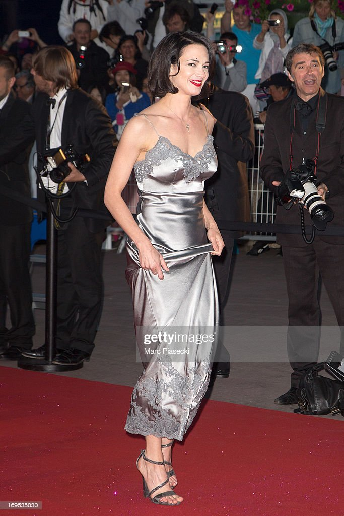 Actress Asia Argento is seen leaving the 'Palais des Festivals' during the 66th Annual Cannes Film Festival on May 26, 2013 in Cannes, France.