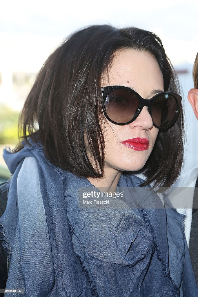 Actress Asia Argento is sighted at Nice airport after the 66th Annual Cannes Film Festival on May 27, 2013 in Nice, France.