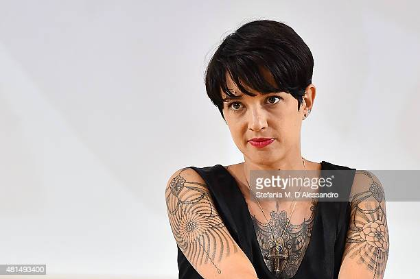 Actress Asia Argento participates to the meeting with the jurors during Giffoni Film Festival 2015 on July 21 2015 in Giffoni Valle Piana Italy