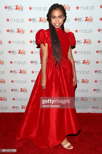 Actress Asia Monet Ray attends the American Heart Association's Go Red For Women Red Dress Collection 2017 presented by Macy's at Fashion Week in New...