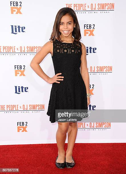 Actress Asia Monet Ray attends the premiere of 'American Crime Story The People V OJ Simpson' at Westwood Village Theatre on January 27 2016 in...