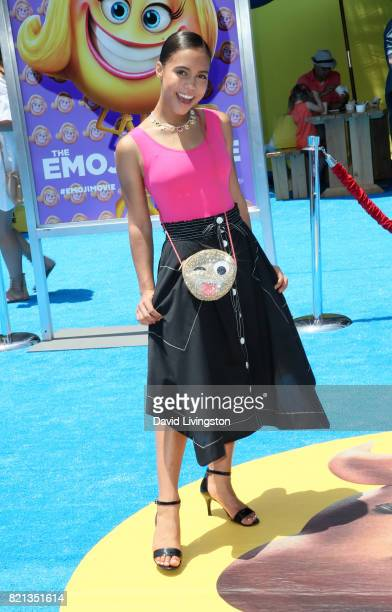 Actress Asia Monet Ray attends the premiere of Columbia Pictures and Sony Pictures Animation's 'The Emoji Movie' at Regency Village Theatre on July...