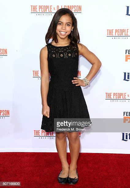 Actress Asia Monet Ray attends the premiere of FX's 'American Crime Story The People V OJ Simpson' at Westwood Village Theatre on January 27 2016 in...