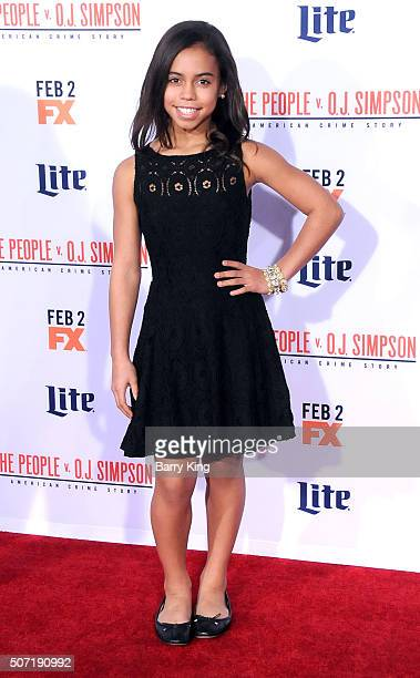Actress Asia Monet Ray attends the premiere of 'FX's 'American Crime Story The People v OJ Simpson' at the Westwood Village Theatre on January 27...