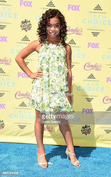 Actress Asia Monet Ray attends the Teen Choice Awards 2015 at the USC Galen Center on August 16 2015 in Los Angeles California