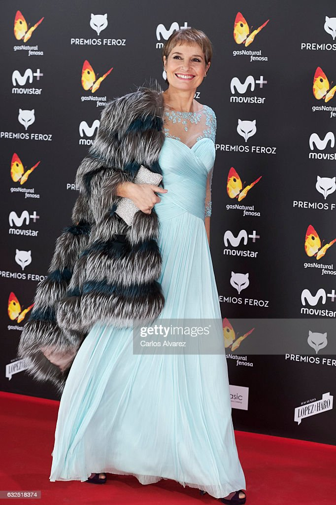 Actress Assumpta Serna attends the Feroz cinema awards 2016 at the Duques de Pastrana Palace on January 23, 2017 in Madrid, Spain.