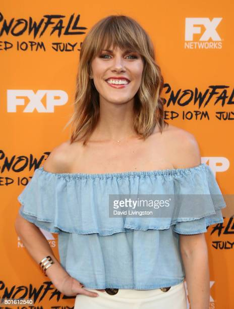 Actress Astrea CampbellCobb attends the premiere of FX's 'Snowfall' at The Theatre at Ace Hotel on June 26 2017 in Los Angeles California