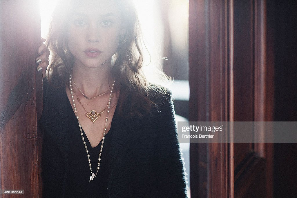 Actress Astrid Berges Frisbey is photographed for Self Assignment on September 12, 2014 in Paris, France.
