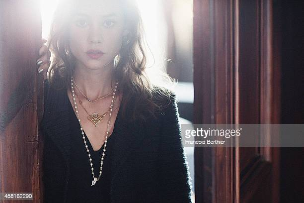 Actress Astrid Berges Frisbey is photographed for Self Assignment on September 12 2014 in Paris France