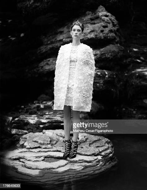 107275007 Actress Astrid Berges Frisbey is photographed in Winter 20132014 Haute Couture for Madame Figaro on July 4 2013 in MarnelaVallee France All...