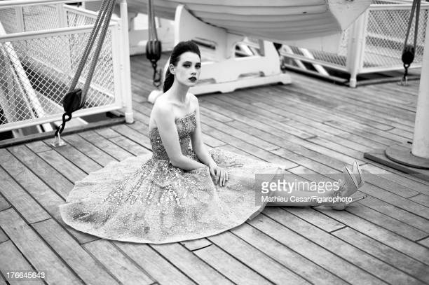 107275015 Actress Astrid Berges Frisbey is photographed in Winter 20132014 Haute Couture for Madame Figaro on July 4 2013 in MarnelaVallee France All...