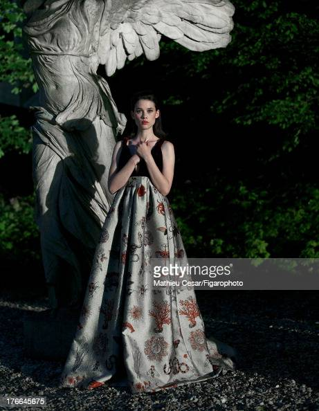 107275011 Actress Astrid Berges Frisbey is photographed in Winter 20132014 Haute Couture for Madame Figaro on July 4 2013 in MarnelaVallee France All...