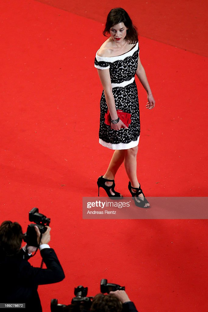 Actress Astrid BergesFrisbey attends the 'Only God Forgives' Premiere during the 66th Annual Cannes Film Festival at Palais des Festivals on May 22...