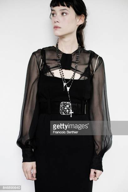 Actress Astrid BergesFrisbey is photographed on September 9 2017 in Deauville France