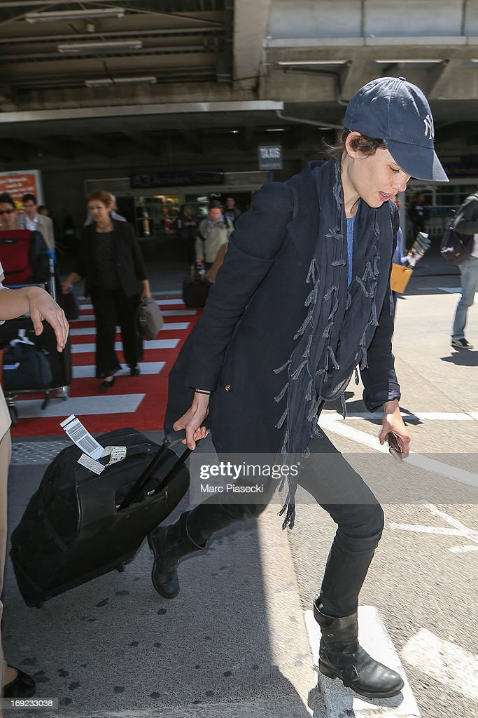 Actress Astrid Berges-Frisbey is seen at Nice airport during the 66th Annual Cannes Film Festival on May 22, 2013 in Nice, France.