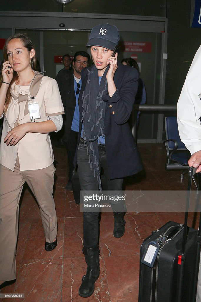 Actress <a gi-track='captionPersonalityLinkClicked' href=/galleries/search?phrase=Astrid+Berges-Frisbey&family=editorial&specificpeople=5582214 ng-click='$event.stopPropagation()'>Astrid Berges-Frisbey</a> is seen at Nice airport during the 66th Annual Cannes Film Festival on May 22, 2013 in Nice, France.