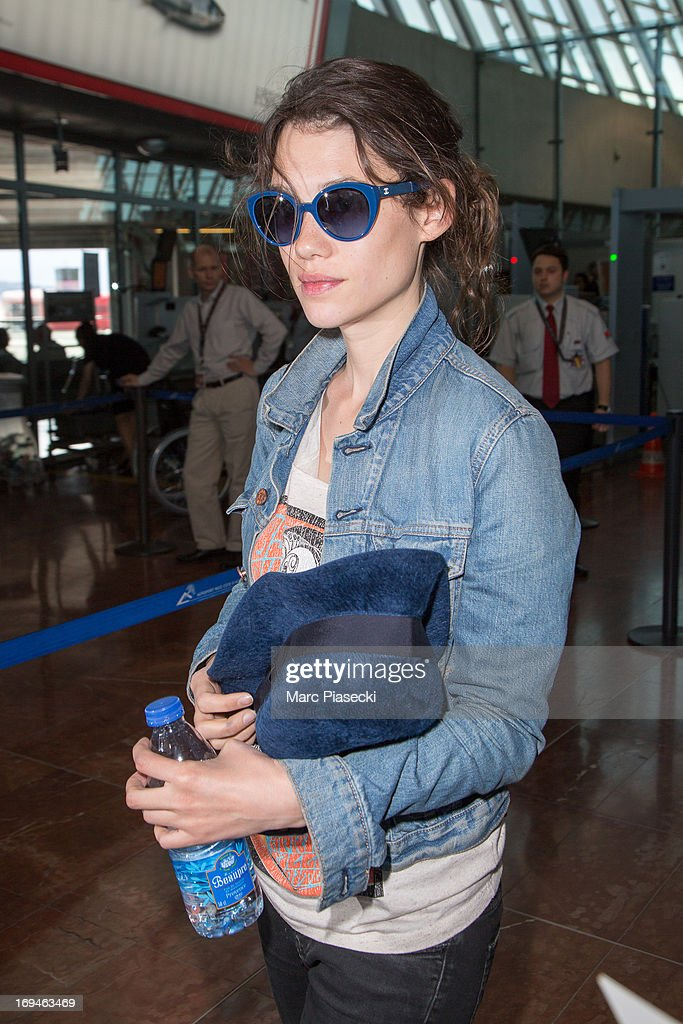 Actress Astrid Berges-Frisbey is sighted at Nice airport during the 66th Annual Cannes Film Festival on May 25, 2013 in Nice, France.