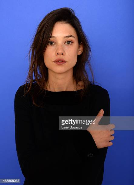 Actress Astrid BergesFrisbey poses for a portrait during the 2014 Sundance Film Festival at the Getty Images Portrait Studio at the Village At The...