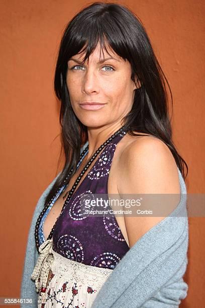 Actress Astrid Veillon at Roland Garros Village