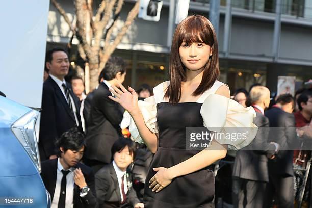 Actress Atsuko Maeda attends the green carpet of the Tokyo International Film Festival at Roppongi Hills on October 20 2012 in Tokyo Japan