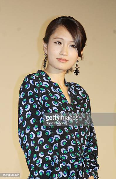 Actress Atsuko Maeda attends the 'Initiation Love' PR event on June 4 2015 in Tokyo Japan