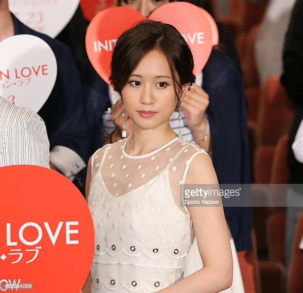 Actress Atsuko Maeda attends the 'Initiation Love' Press conference on May 13 2015 in Tokyo Japan