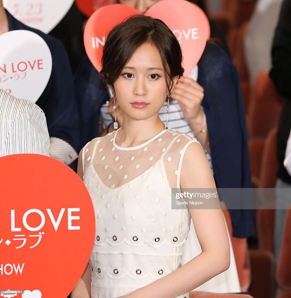 Actress <a gi-track='captionPersonalityLinkClicked' href=/galleries/search?phrase=Atsuko+Maeda&family=editorial&specificpeople=6867932 ng-click='$event.stopPropagation()'>Atsuko Maeda</a> attends the 'Initiation Love' Press conference on May 13, 2015 in Tokyo, Japan.