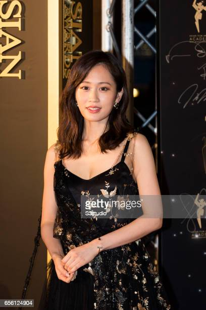 Actress Atsuko Maeda of Japan poses on the red carpet during the 11th Asian Film Awards on March 21 2017 at Hong Kong Cultural Centre in Hong Kong...