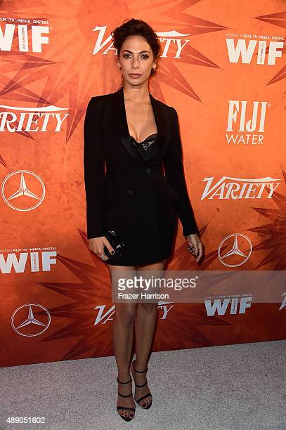 Actress attends the Variety and Women in Film Annual PreEmmy Celebration at Gracias Madre on September 18 2015 in West Hollywood California