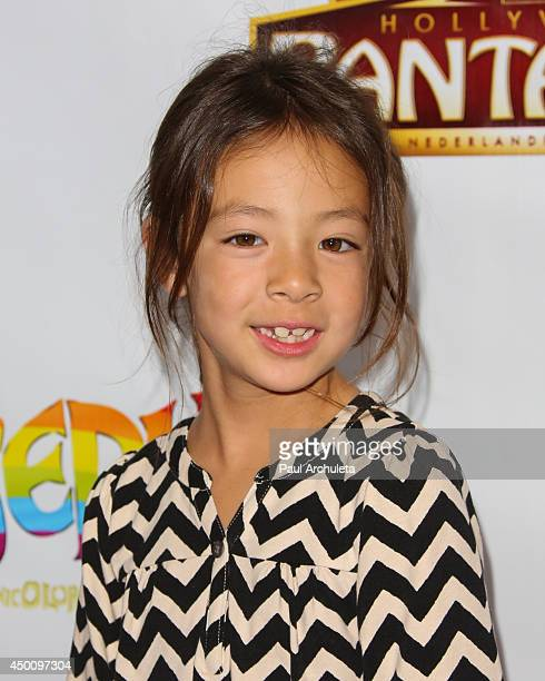 Actress Aubrey Anderson attends the opening night of 'Joseph And The Amazing Technicolor Dreamcoat' at the Pantages Theatre on June 4 2014 in...