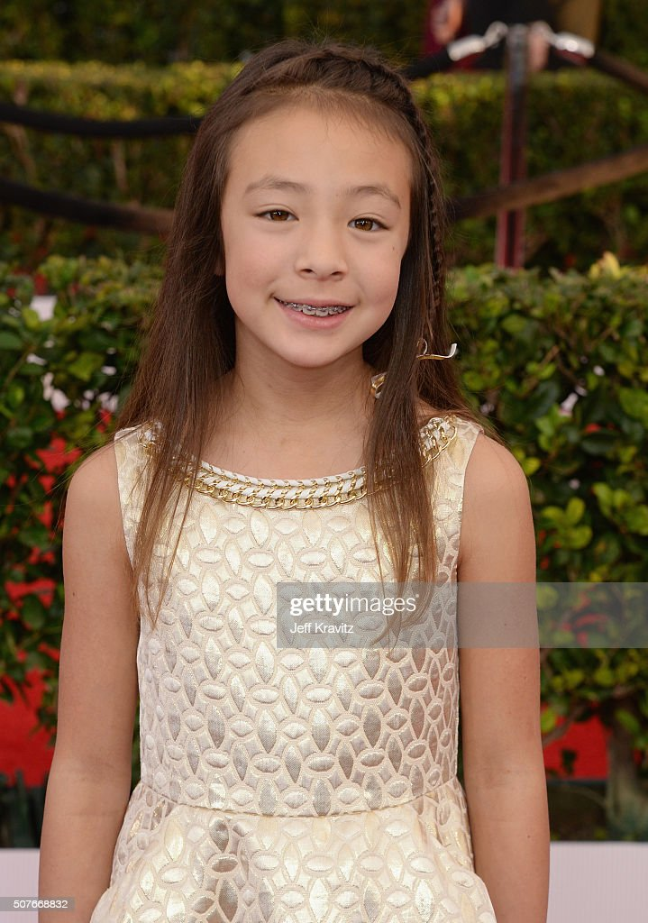Actress Aubrey Anderson Emmons attends the 22nd Annual Screen Actors Guild Awards at The Shrine Auditorium on January 30 2016 in Los Angeles...