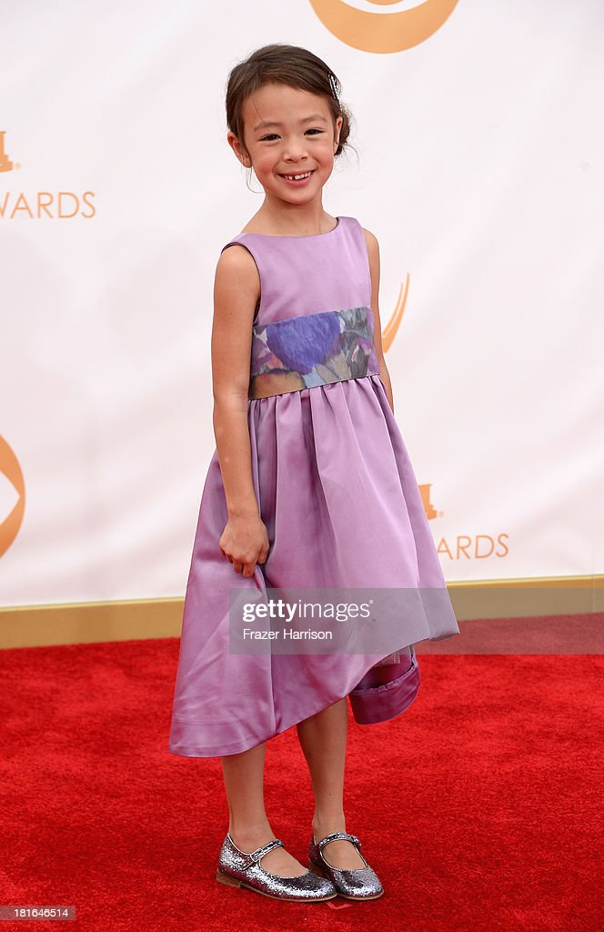 Actress Aubrey AndersonEmmons arrives at the 65th Annual Primetime Emmy Awards held at Nokia Theatre LA Live on September 22 2013 in Los Angeles...