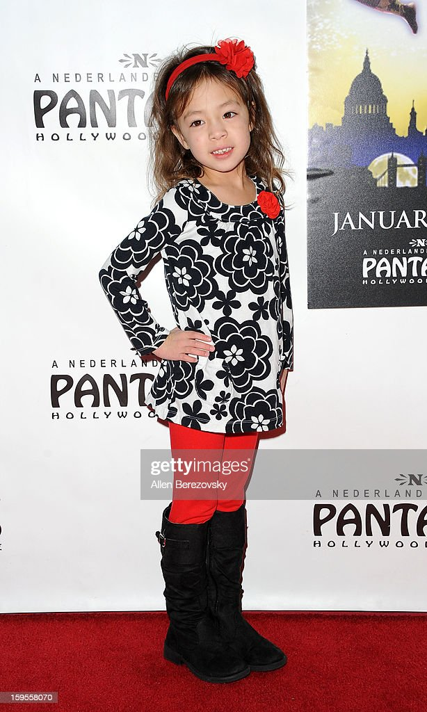 Actress Aubrey Anderson-Emmons arrives at the Los Angeles opening night performance of 'Peter Pan' at the Pantages Theatre on January 15, 2013 in Hollywood, California.
