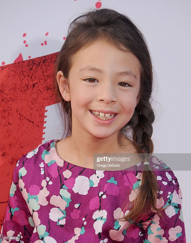 Actress Aubrey AndersonEmmons arrives at the Los Angeles premiere of 'Hot Pursuit' at TCL Chinese Theatre IMAX on April 30 2015 in Hollywood...