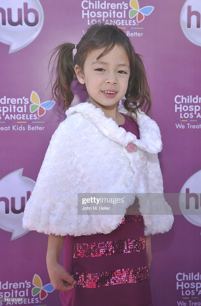 Actress <a gi-track='captionPersonalityLinkClicked' href=/galleries/search?phrase=Aubrey+Anderson-Emmons&family=editorial&specificpeople=8203980 ng-click='$event.stopPropagation()'>Aubrey Anderson-Emmons</a> arrives at the My Little Pony Coronation Concert at the Brentwood Theatre on February 9, 2013 in Los Angeles, California.