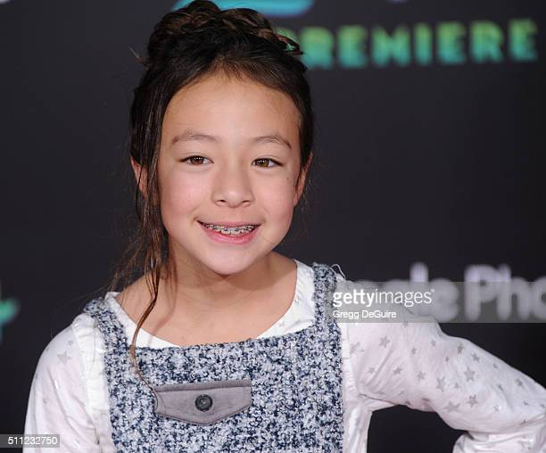 Actress Aubrey AndersonEmmons arrives at the premiere of Walt Disney Animation Studios' 'Zootopia' at the El Capitan Theatre on February 17 2016 in...