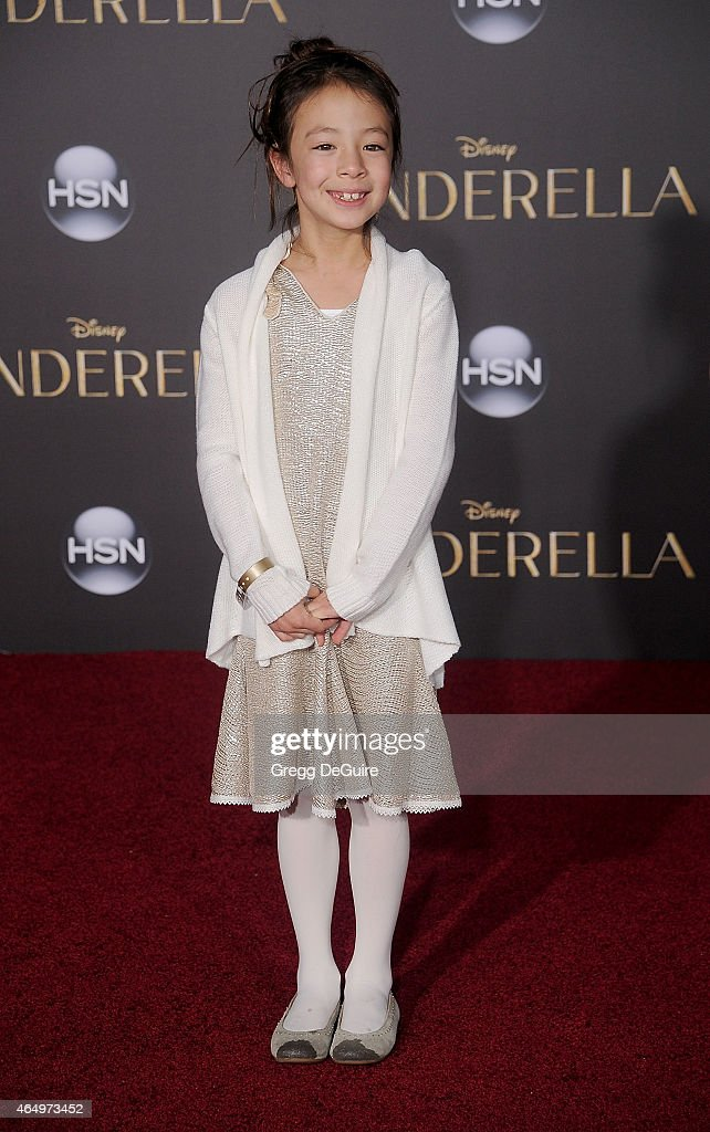 Actress Aubrey AndersonEmmons arrives at the World Premiere of Disney's 'Cinderella' at the El Capitan Theatre on March 1 2015 in Hollywood California