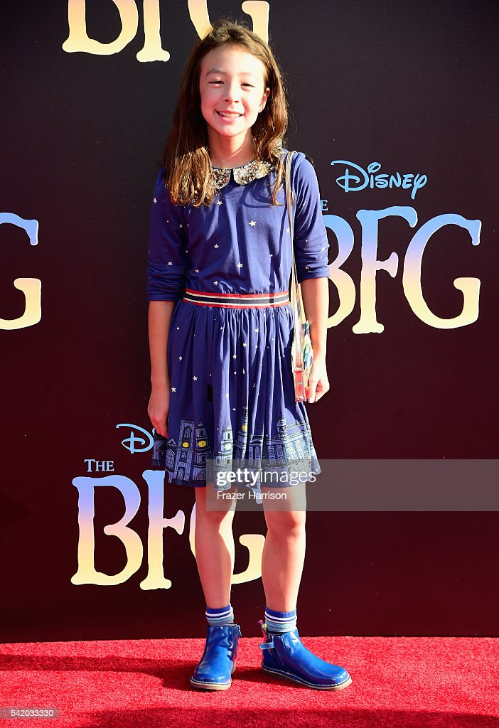 Actress Aubrey AndersonEmmons attends Disney's 'The BFG' premiere at the El Capitan Theatre on June 21 2016 in Hollywood California