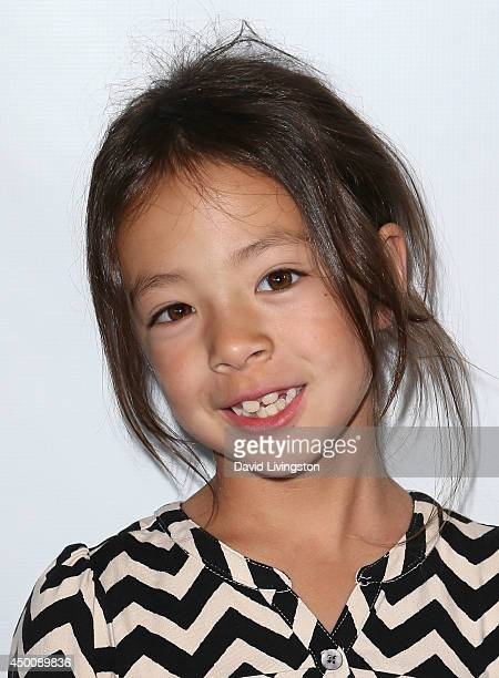Actress Aubrey AndersonEmmons attends Los Angeles opening night of 'Joseph and the Amazing Technicolor Dreamcoat' at the Pantages Theatre on June 4...