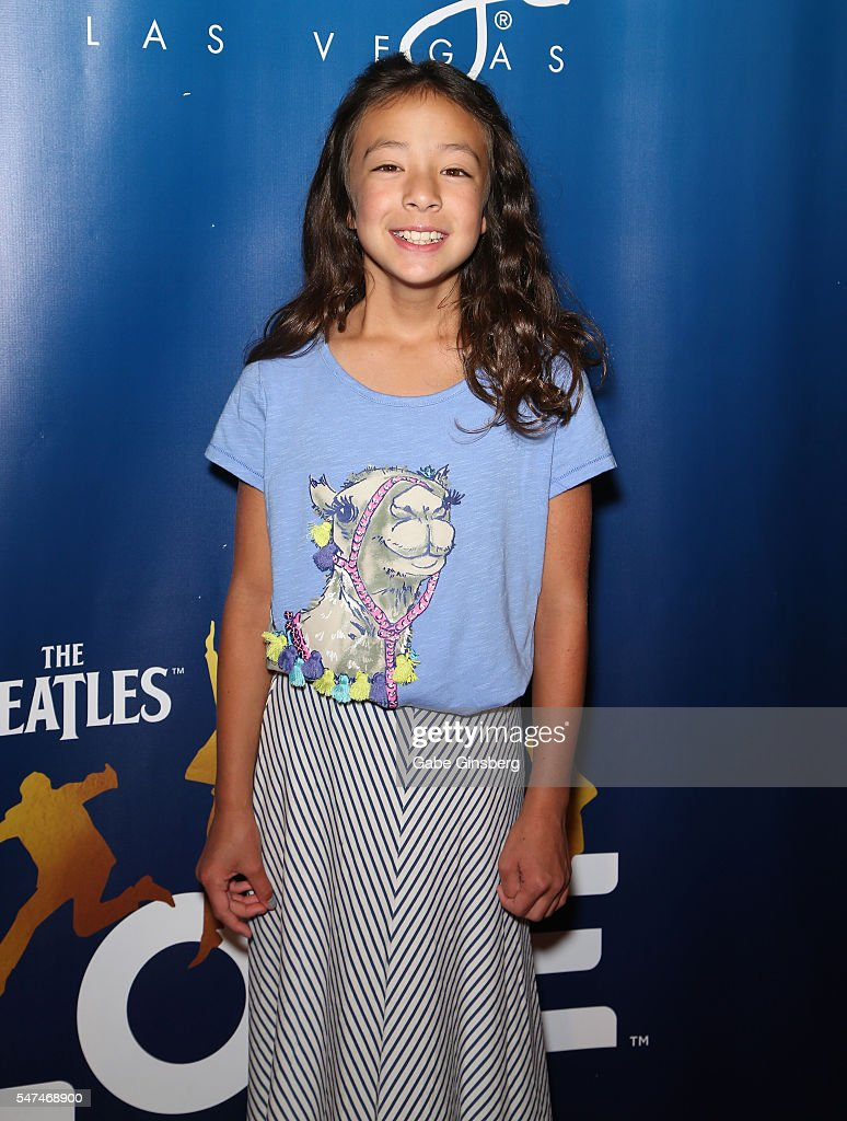 Actress Aubrey AndersonEmmons attends the 10th anniversary celebration of 'The Beatles LOVE by Cirque du Soleil' at The Mirage Hotel Casino on July...