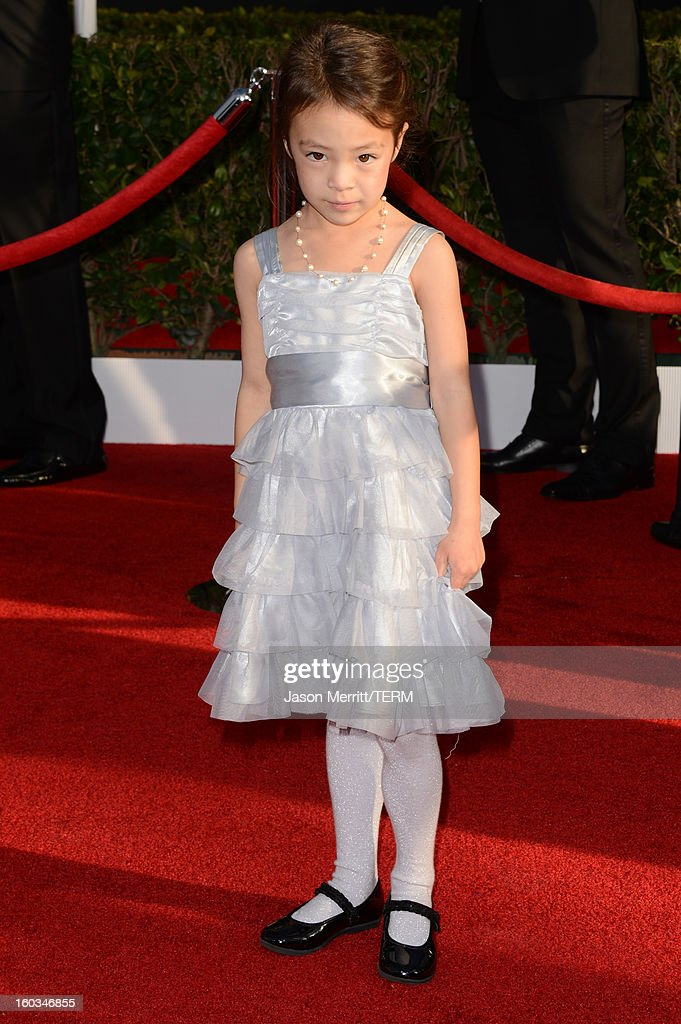 Actress Aubrey Anderson-Emmons attends the 19th Annual Screen Actors Guild Awards at The Shrine Auditorium on January 27, 2013 in Los Angeles, California. (Photo by Jason Merritt/WireImage) 23116_014_0386.JPG